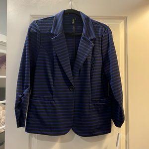 Ambition Black and Blue Blazer